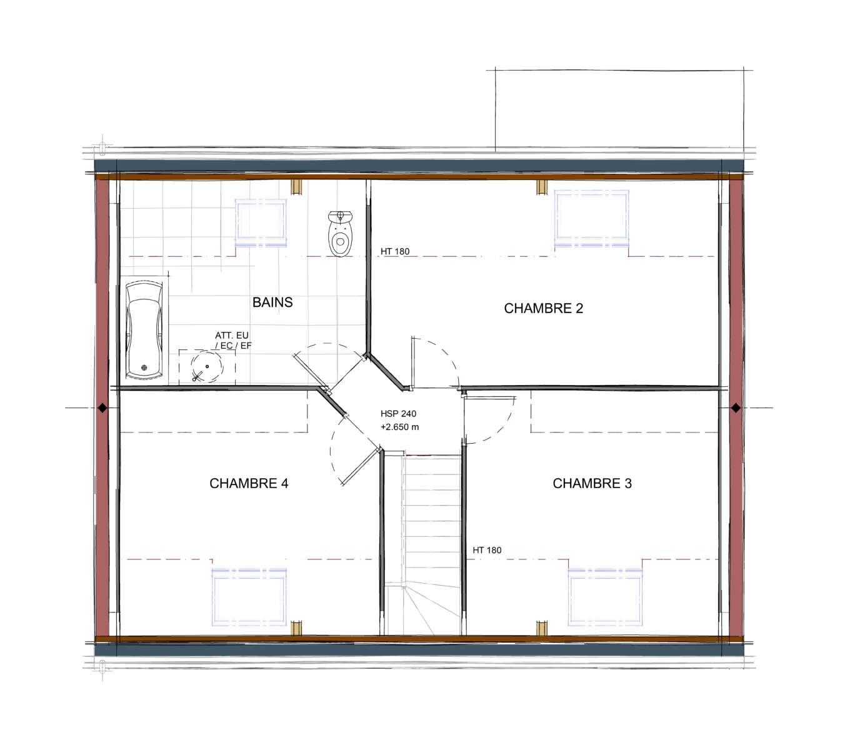 Maison modèle CEZANNE - Etage