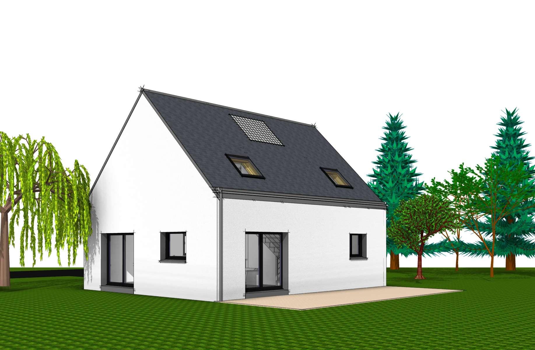 Maison modèle CEZANNE - Perspective dessin