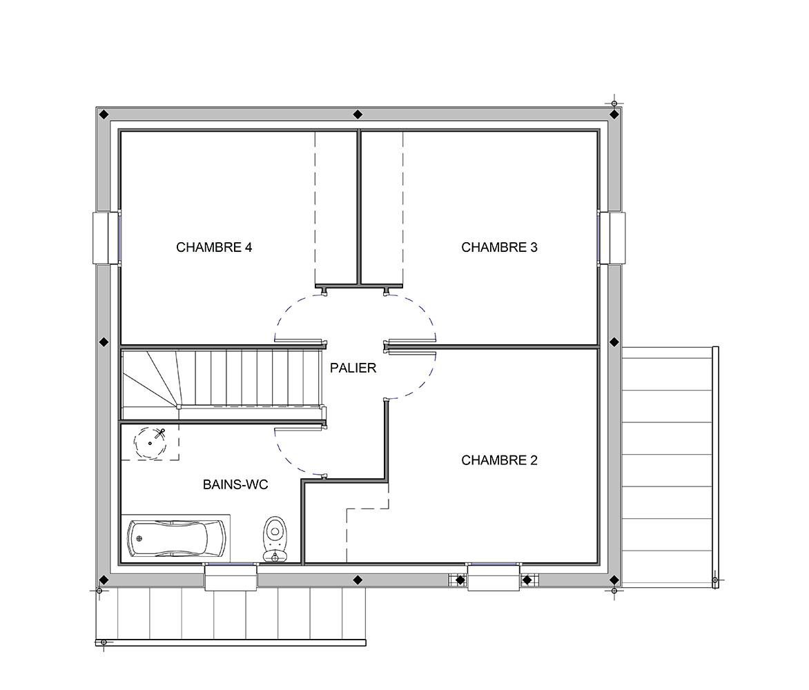 Maison Modèle SISLEY - ETAGE